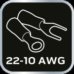 Клещи для обжима неизолированных  наконечников 22-12AWG
