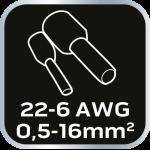 Клещи для обжима кабельных наконечников 0,5-16 мм2 (22-6 AWG)